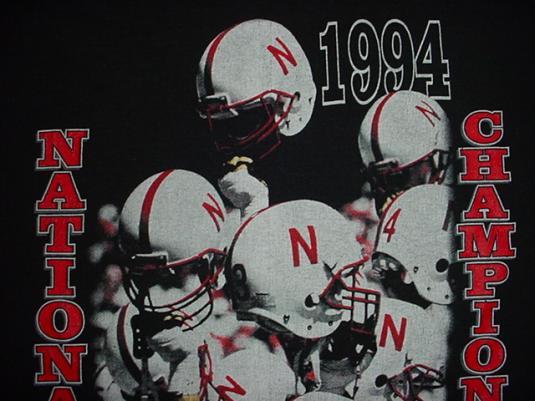 Vintage Nebraska National Champions N T-Shirt XL