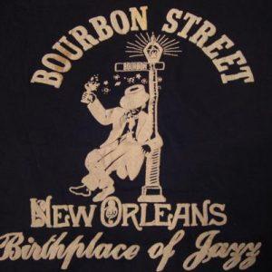 Vintage Bourbon Street New Orleans T-Shirt Jazz L