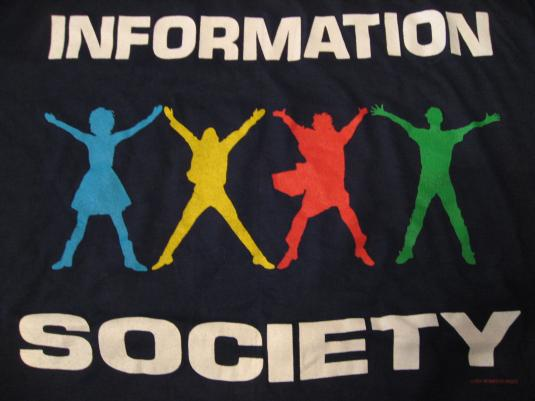 Vintage Information Society T-Shirt InSoc L