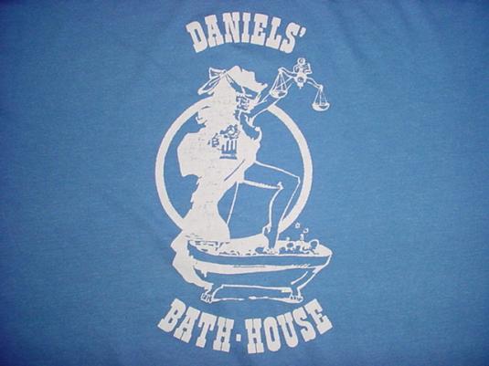 Vintage Daniels' Bath-House T-Shirt 1980s L
