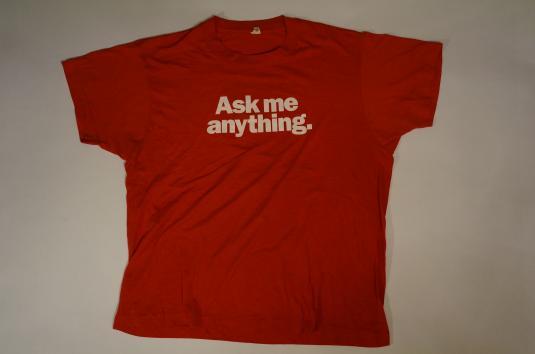 Vintage POPULAR MECHANICS ASK ME ANYTHING T-Shirt L
