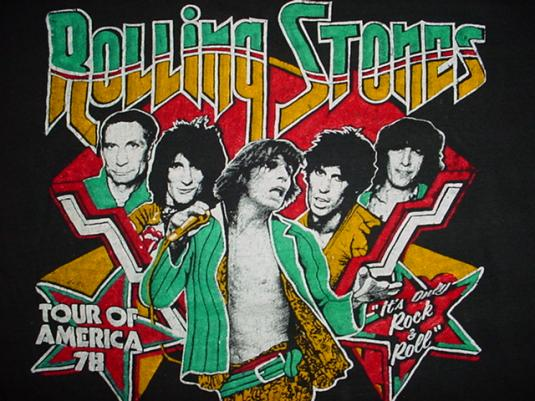 Vintage Rolling Stones Tour of America 1978 T-Shirt S