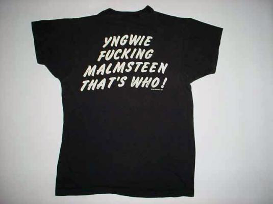Vintage Yngwie Who? Malmsteen T-Shirt 1986 M/S