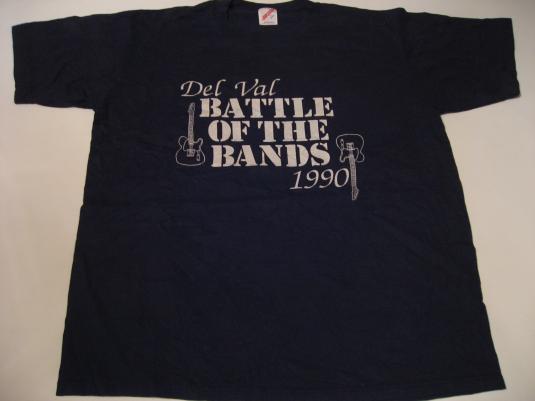 Vintage Del Val Battle of the Bands T-Shirt 1990 M/L