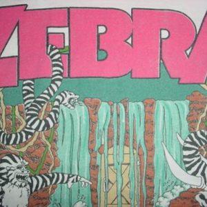 Vintage Zebra T-Shirt Sleeveless Who's Behind The Tour S/M