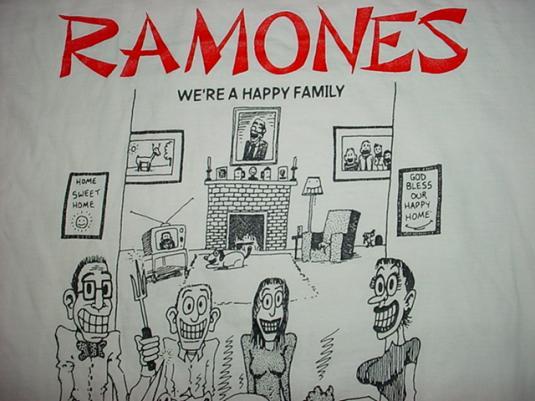 Vintage Ramones We're A Happy Family T-Shirt L