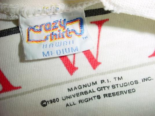 Vintage Magnum PI T-Shirt Robin Masters Ferrari 308 GTS M