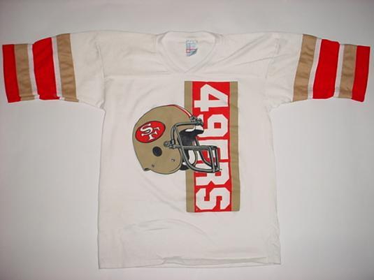 Vintage San Francisco 49ERS Jersey T-Shirt 1980s M/S
