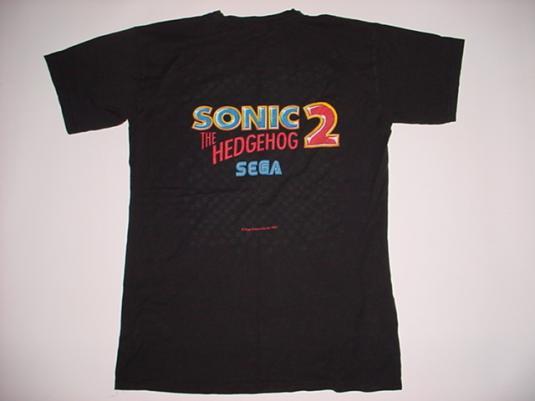 Vintage Sonic the Hedgehog 2 T-Shirt Sega 1991 M