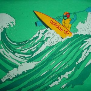 Vintage Adidas Kayack Kayacking Amuza Devil's T-Shirt L