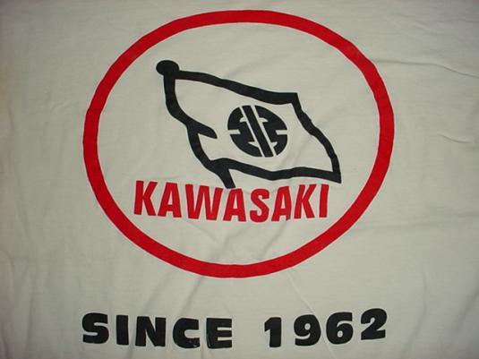 Vintage Kawasaki T-Shirt Motorcyle Japan XL/L