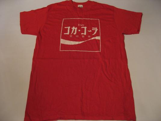 Vintage Foreign Coke Japan Japanese T-Shirt M/S
