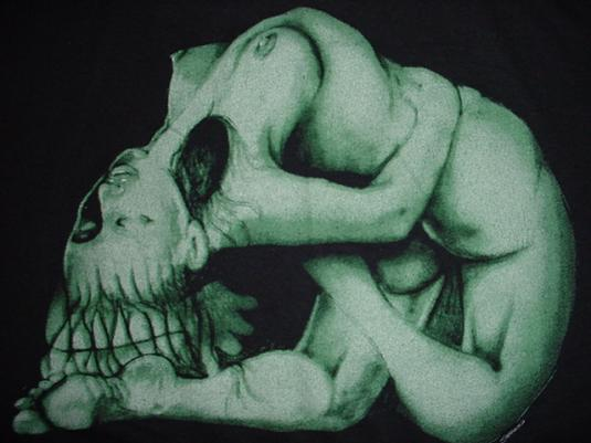 Vintage Body Graphics T-Shirt Sasquatch art fantasy L/M