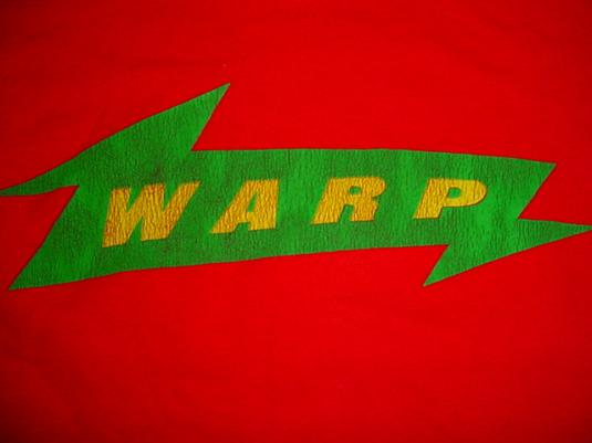 Vintage Warp T-Shirt Record Label Promo XL