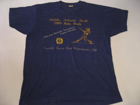 Vintage Middle Atlantic Babe Ruth Baseball Tournament 89 M/L