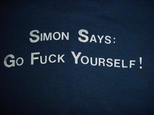 Vintage George Carlin T-Shirt Simon Says M/L
