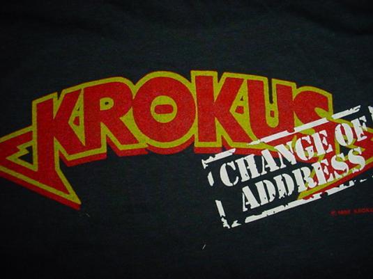 Vintage Krokus Burning Up The Night T-Shirt M/S