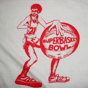 Vintage Superbasket Bowl Steelers Cowboys T-Shirt 1976 M/L