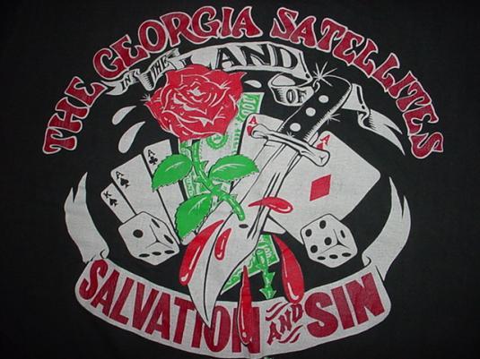 Vintage The Georgia Satellites T-Shirt Salvation Sin '90 M/L