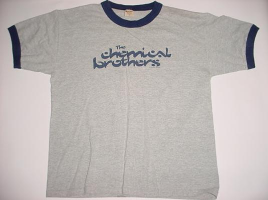 Vintage The Chemical Brothers T-Shirt ringer 1996 XL