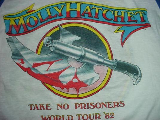 Vintage Molly Hatchet Jersey T-Shirt 1981 Boris Vallejo X