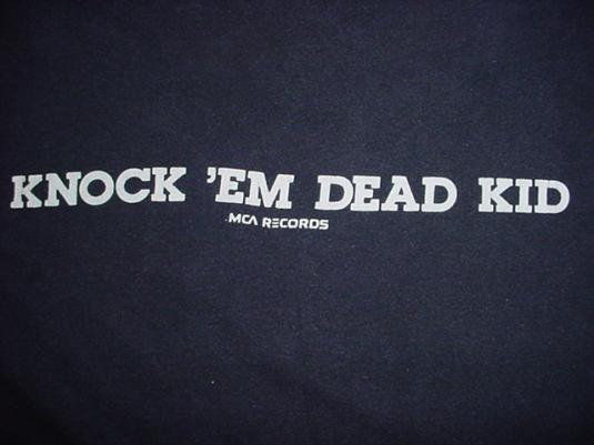 Vintage Trooper T-Shirt Knock Em Dead Kid L