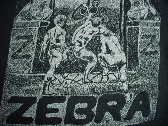 Vintage RARE Zebra T-Shirt 1970s S
