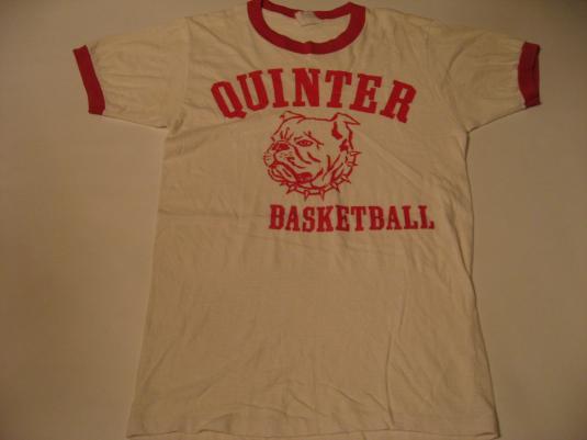 Vintage Quinter Bulldogs High School Basketball T-Shirt S