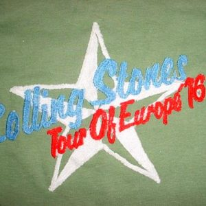Vintage Rolling Tones Tour of Europe T-Shirt 1976 S