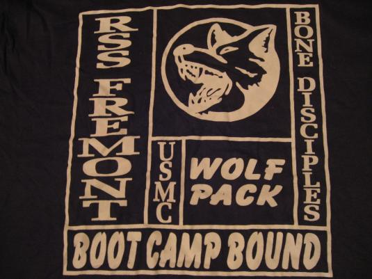 Vintage WOLF PACK USMC RSS Fremont T-Shirt Boot Camp L