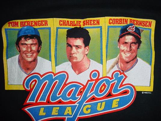Vintage Major League T-Shirt Charlie Sheen 1989 M/S