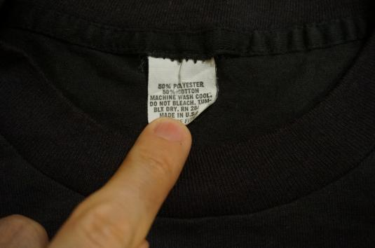 Vintage BATMAN T-Shirt fluorescent logo DC COMICS S