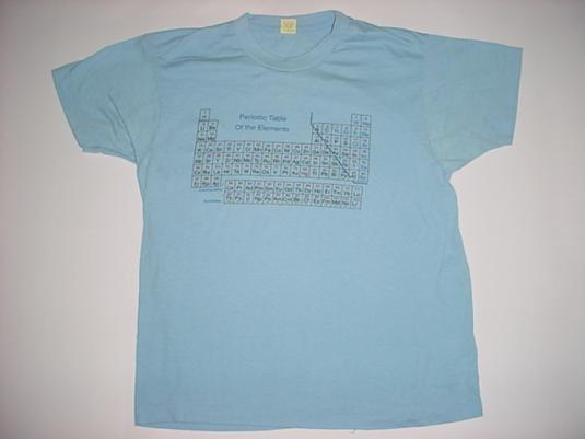 Vintage Period Table of the Elements T-Shirt 1980s M/L