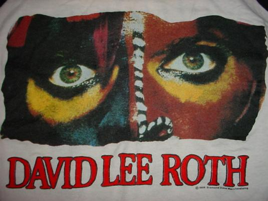 Vintage David Lee Roth Jersey T-Shirt World Tour 1986 M/L