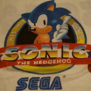 Vintage Sonic The Hedgehog SEGA T-Shirt L/M