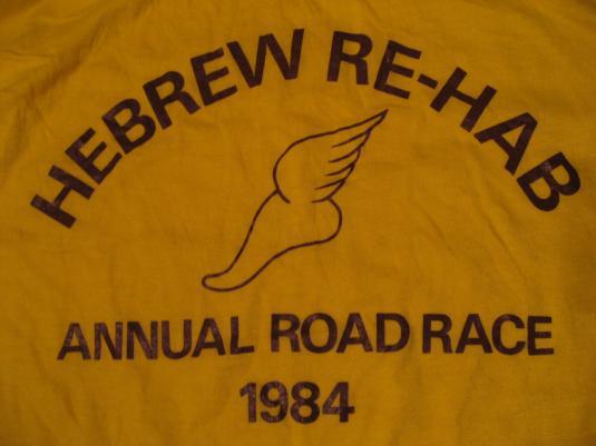 Vintage Hebrew Re-Hab Road Race 1984 T-Shirt M/S