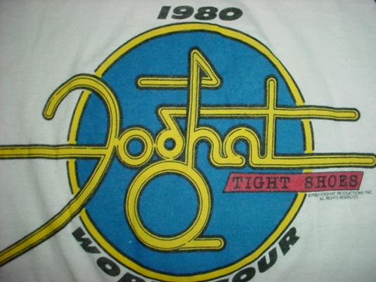Vintage Foghat T-Shirt Tight Shoes Jersey Tour 1980 S