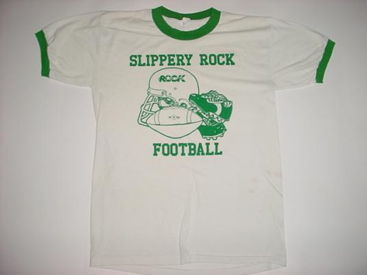 Vintage Slippery Rock Football T-Shirt University M/L