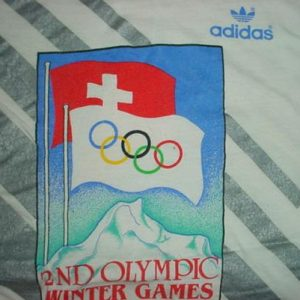 Vintage Adidas Winter Olympic Games T-Shirt M