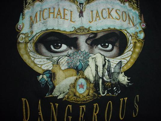 Vintage Michael Jackson Dangerous T-Shirt 1991 M/S