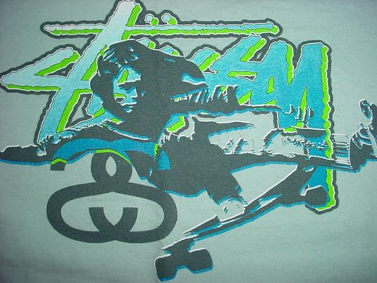 Vintage Skateboard Stussy T-Shirt Skate Sean L