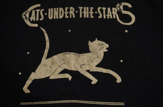 Vintage Cats Under The Stars T-Shirt Jerry Garcia Band? S