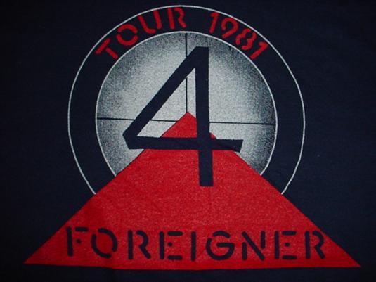 Vintage Foreigner T-Shirt Tour 1981 M/L