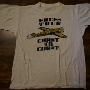 Vintage FACES Rod Stewart Ronnie Wood Rolling Stones T-Shirt