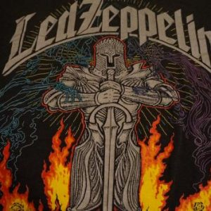 Vintage Led Zeppelin Let the Music T-Shirt ZOSO 1980s XL