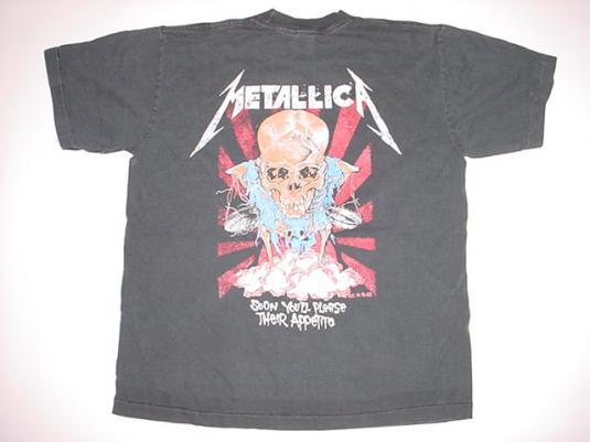 Vintage Metallica T-Shirt Justice Lyrics T-Shirt L