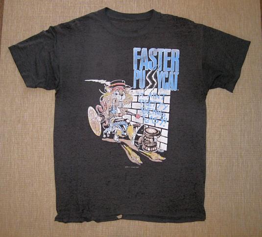 Rare 1987 Faster Pussycat Tour T-Shirt