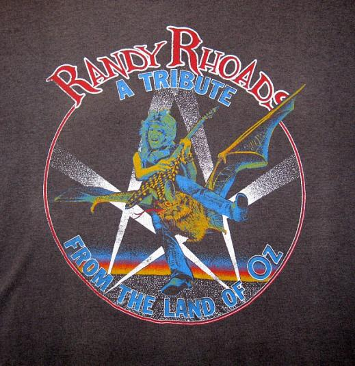 1987 Randy Rhoads Tribute Album Promo T-Shirt