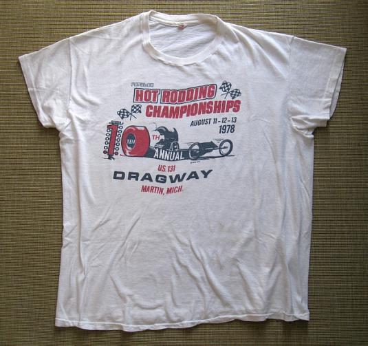 Rare 1978 Hot Rodding Championships T-Shirt