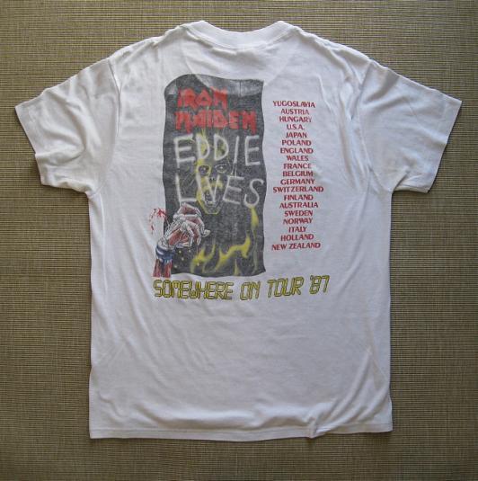 1987 Iron Maiden World Tour T-Shirt